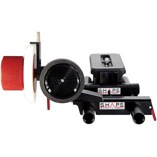 SHAPE Friction & Gear Follow-Focus Riser Rail Kit with Adjustable Marker