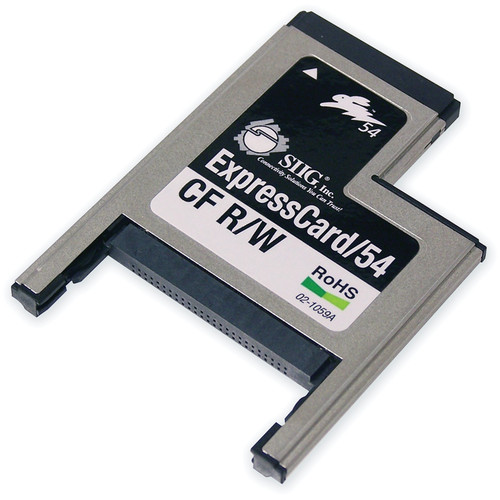 SIIG ExpressCard/54 CompactFlash Card Reader/Writer