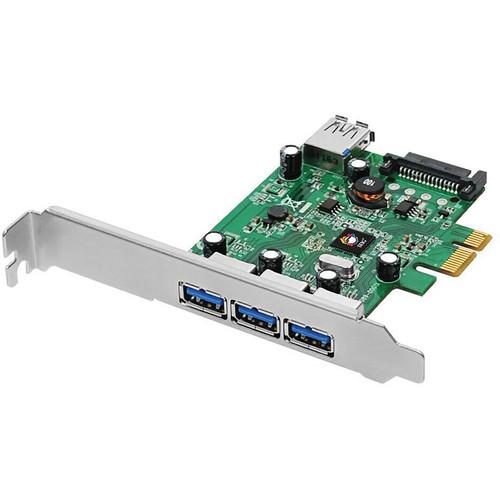 SIIG DP USB 3.0 4-Port PCIe i/e Adapter Card