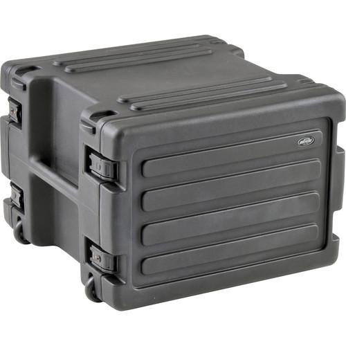 "SKB 1SKB-R8W 8U Roto Rolling Rack (24.5 x 24.5 x 18"", Black)"