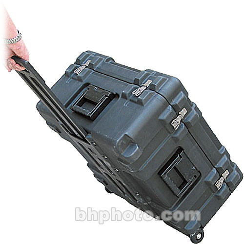 SKB 3R2222-12B-CW Roto-molded Mil-Standard Utility Case with Wheels and Cube foam Interior