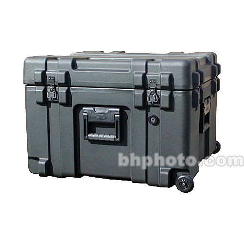 SKB 3R2423-17B-CW Roto-Molded Mil-Standard Utility Case with Cubed Foam Interior and wheels
