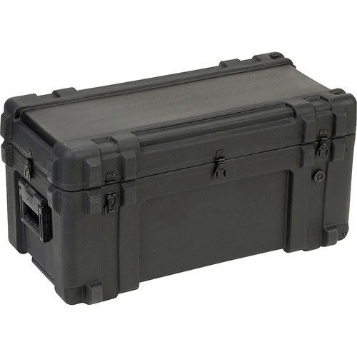 SKB 3R3214-15B-CW Roto-Molded Mil-Standard Utility Case with Cubed Foam Interior and wheels