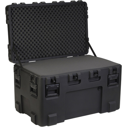 SKB 3R4024-24B-L Roto-Molded Mil-Standard Utility Case with Layered Foam Empty Interior