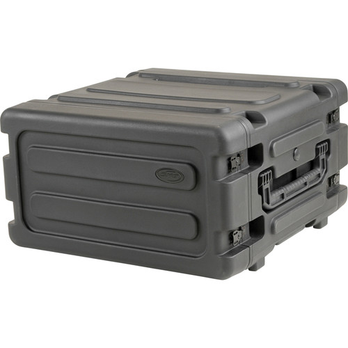 "SKB 4U Roto Shockmount Rack Case (20"" Deep,4 Rack Spaces, Black)"