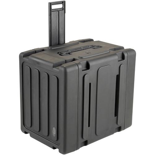 """SKB 3SKB-R10U20W 20"""" Deep 10U Roto Shock Mount Rolling Rack Case"""