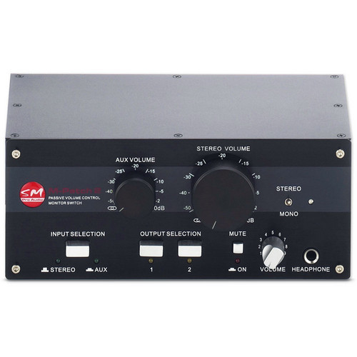 SM Pro Audio M-PATCH 2 Passive Stereo Controller/Switch Box
