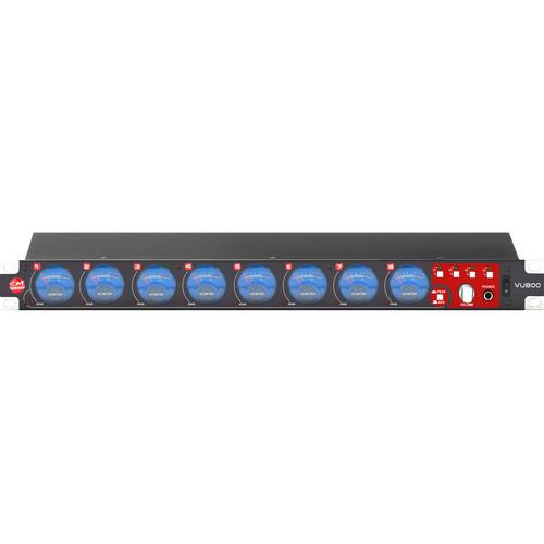 SM Pro Audio VU800 8-Channel Passive Rackmount VU Meter