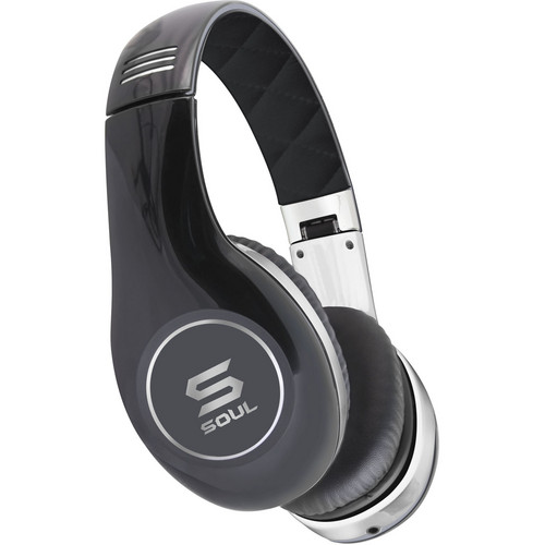 Soul by Ludacris SL150 Pro Hi-Definition On-Ear Headphones (Chrome & Black)