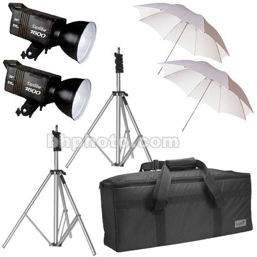 SP Studio Systems Excalibur 2-Monolight Lighting Kit with Case