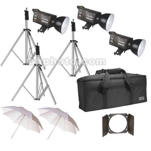 SP Studio Systems Excalibur SP1600 3 Light Kit