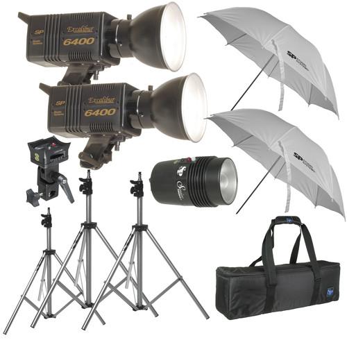SP Studio Systems Excalibur Pro 6400 3-Light Lighting Kit