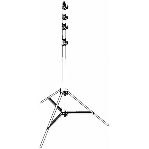SP Studio Systems Air-Cushioned 4-Section Light Stand (Black,10')