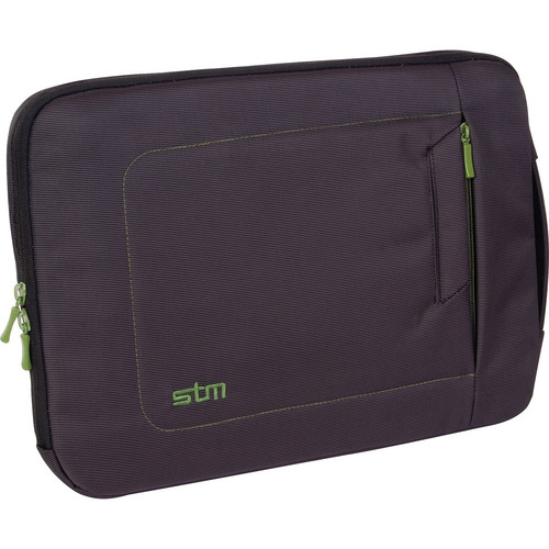 "STM Jacket Laptop Sleeve for 13"" Screens (Small, Black/Green)"