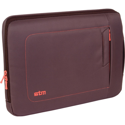 "STM Jacket Laptop Sleeve for 13"" Screens (Small, Chocolate/Orange)"
