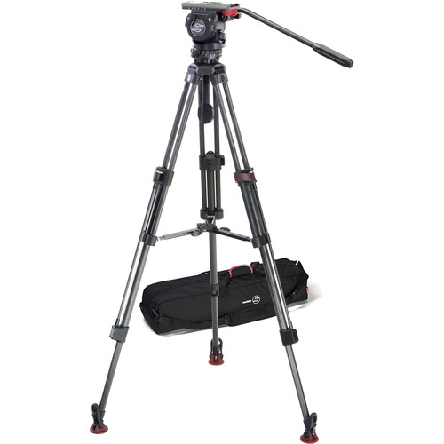 Sachtler 0450 FSB-6T Head with 75CF Tripod and Mid-Level Spreader