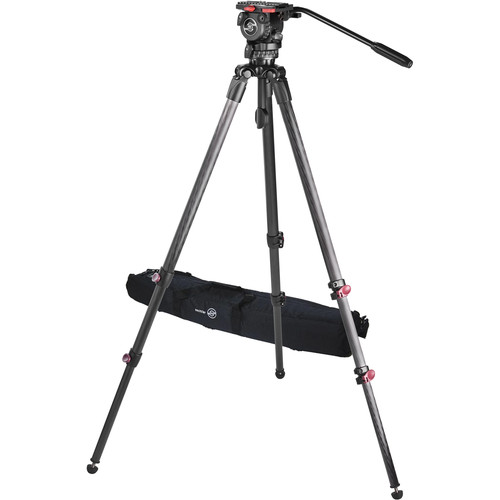 Sachtler Telescopic Tripod TT 75/2 CF with FSB 8 Fluid Head