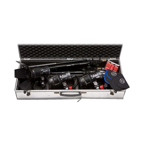 Sachtler Reporter 3-Light Kit W/Stand Mounts & Soft Bag (240V)