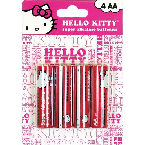 Sakar Hello Kitty Super AA Alkaline Batteries (1.5V) - 4-Pack