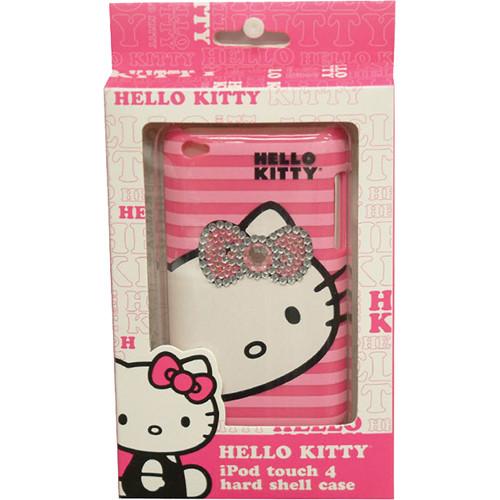 Sakar Hello Kitty Bling iPod Touch 4 Case (Pink Stripe)