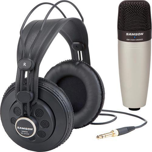 Samson SR850 Headphone and C01 Microphone Bundle