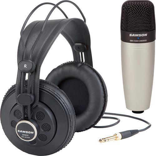 Samson SR850 Headphone and C01 Microphone Bundle