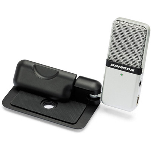Samson Go Mic USB Microphone for Mac and PC Computers (Silver)