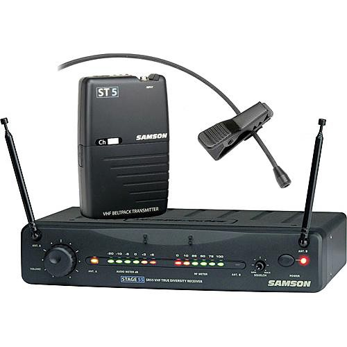 Samson Stage 55 Wireless VHF Bodypack Microphone System with LM10 Lavalier
