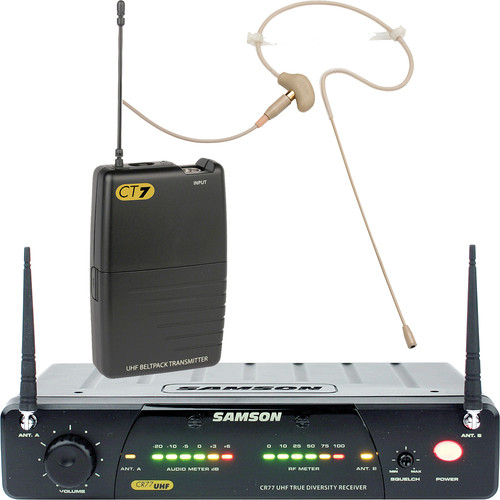 Samson Concert 77 Head Worn Wireless Microphone System (Frequency N2- 642.875 MHz)