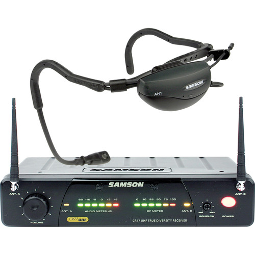 Samson AirLine 77 Fitness Head Worn Wireless Microphone System (Frequency N5: 645.500 MHz)