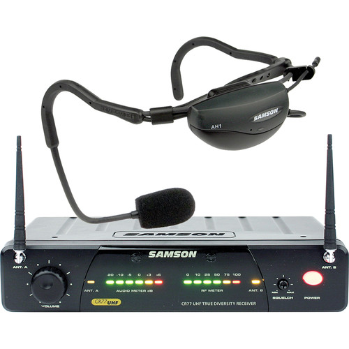 Samson AirLine 77 Vocal Head Worn Wireless Microphone System (Frequency N5- 645.500 MHz)