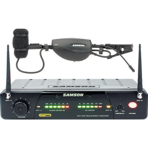Samson AirLine 77 Wireless Wind Instrument Microphone System (Frequency N6- 645.750 MHz)