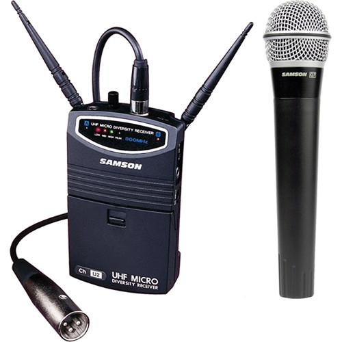 Samson UM1 Portable Handheld Wireless Microphone System (Frequency N2- 642.875 MHz)