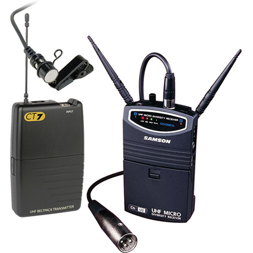 Samson UM1 Portable Wireless Lavalier Microphone System (Frequency N4- 644.750 MHz)