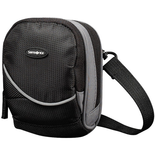 Samsonite Small Round Camera Bag (Black and Gray)