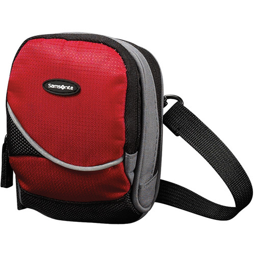 Samsonite Small Round Camera Bag (Red and Black)