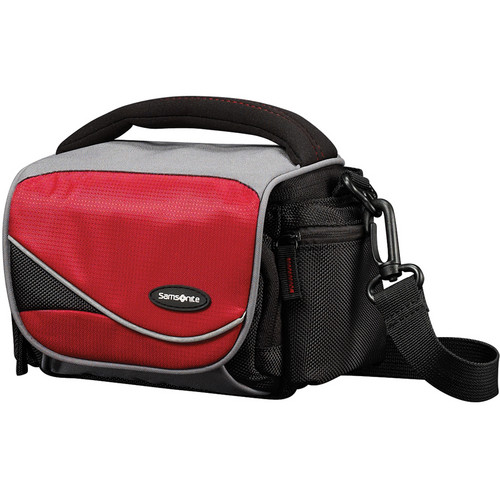 Samsonite Medium Horizontal Camera Bag (Black/Red)