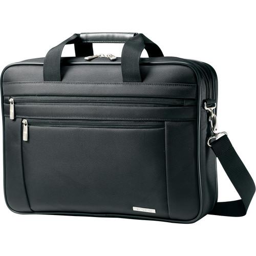"Samsonite Classic Business Perfect Fit Two Gusset Laptop Bag - 15.6"" (Black)"