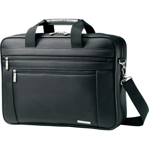 "Samsonite Classic Business Perfect Fit Two Gusset Laptop Bag - 15.6"" (Black)"