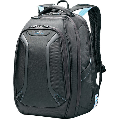 "Samsonite Viz Air Backpack with 15.6"" Laptop Pocket (Black/Electric Blue)"