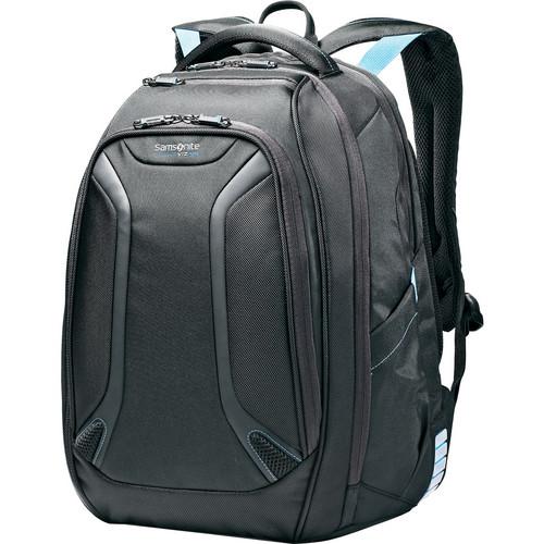 "Samsonite Viz Air Backpack with 15.6"" Laptop Pocket (Black/Electric Blue)"