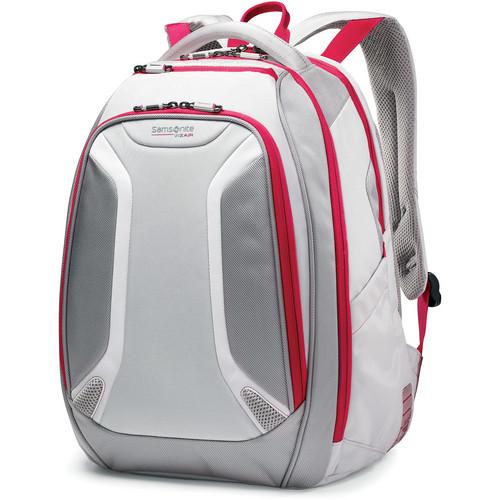 "Samsonite Viz Air Backpack with 15.6"" Laptop Pocket (Silver/Ultra Pink)"