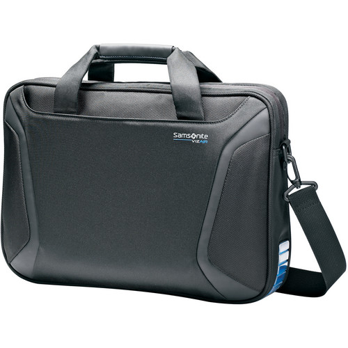 "Samsonite Viz Air Slimbrief with 15.6"" Laptop Pocket (Black/Electric Blue)"