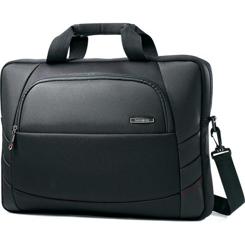 """Samsonite Xenon 2 Slim Brief Bag with 17.3"""" Laptop Pocket (Black)"""