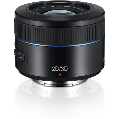 Samsung 45mm f/1.8 [T6] 2D/3D Lens (Black)