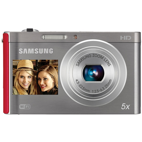 Samsung DV300F Digital DualView Camera (Silver / Red)