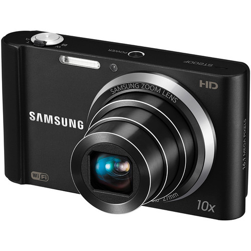 Samsung ST200F SMART Long Zoom Digital Camera (Black)