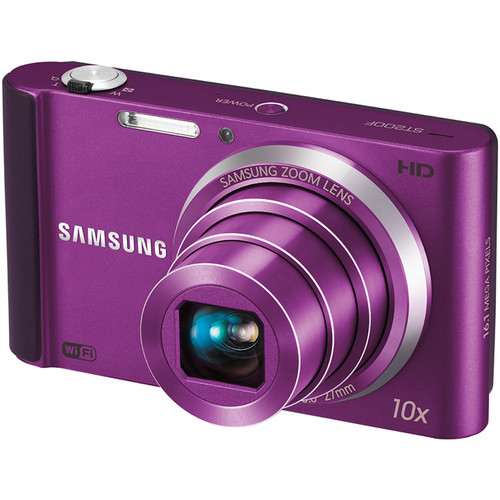 Samsung ST200F SMART Long Zoom Digital Camera (Plum)