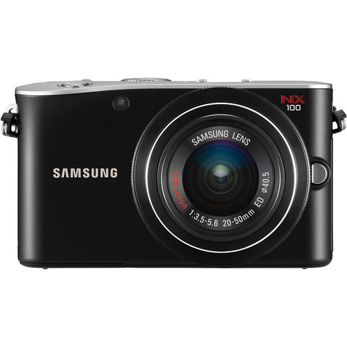 Samsung NX100 Mirrorless Digital Camera W/20-50mm Lens (Black)