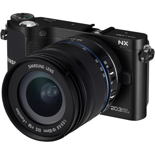 Samsung NX210 Mirrorless Wi-Fi Digital Camera with 18-55mm Lens (Black)